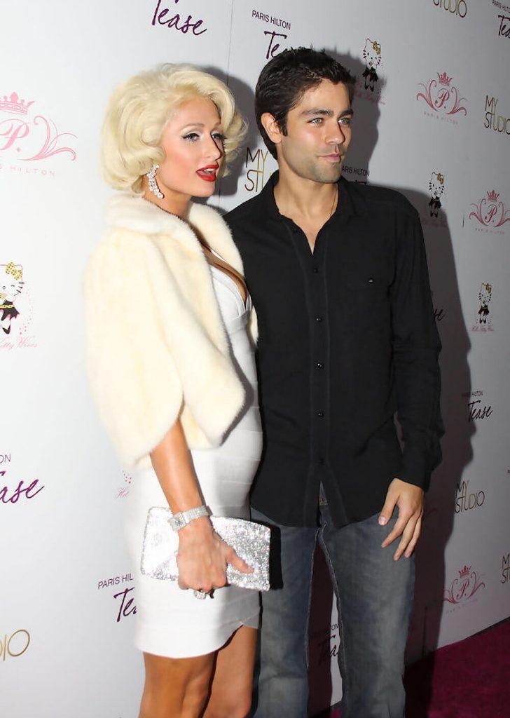 Adrian Grenier with Paris Hilton