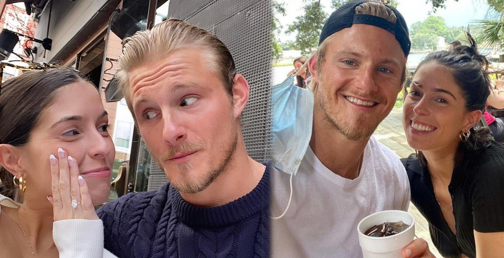 Alexander Ludwig with Lauren Dear engaged