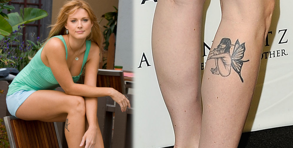Alexandra Breckenridge fairy tattoo on her leg