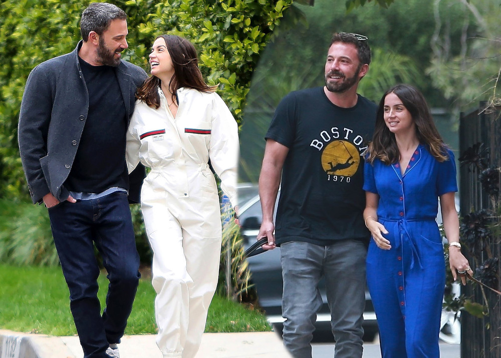 Ana de Armas with current boyfriend Ben Affleck