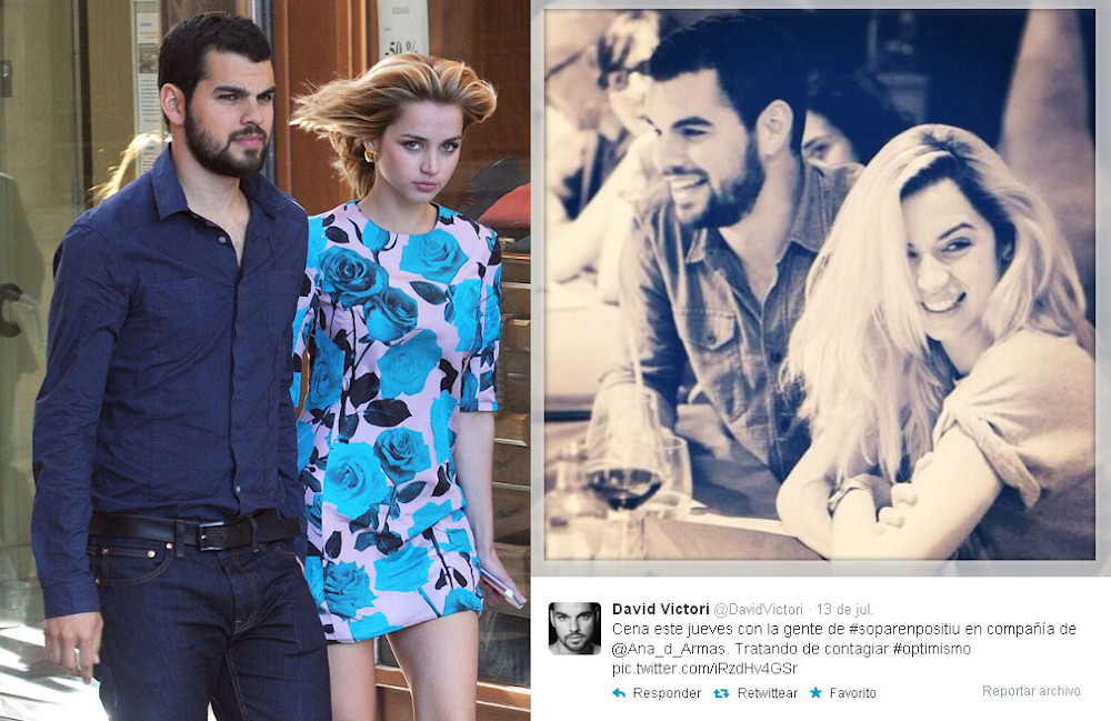 Ana de Armas with ex boyfriend David Victori