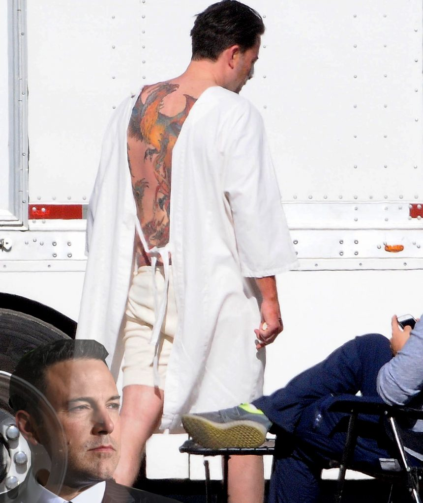 Ben Affleck Back Tattoo