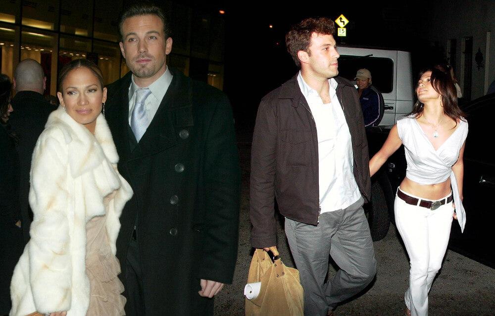 Ben Affleck with ex girlfriend Jennifer Lopez