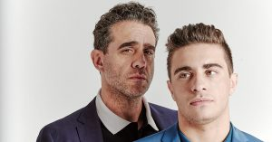 Bobby and his son Jake Cannavale