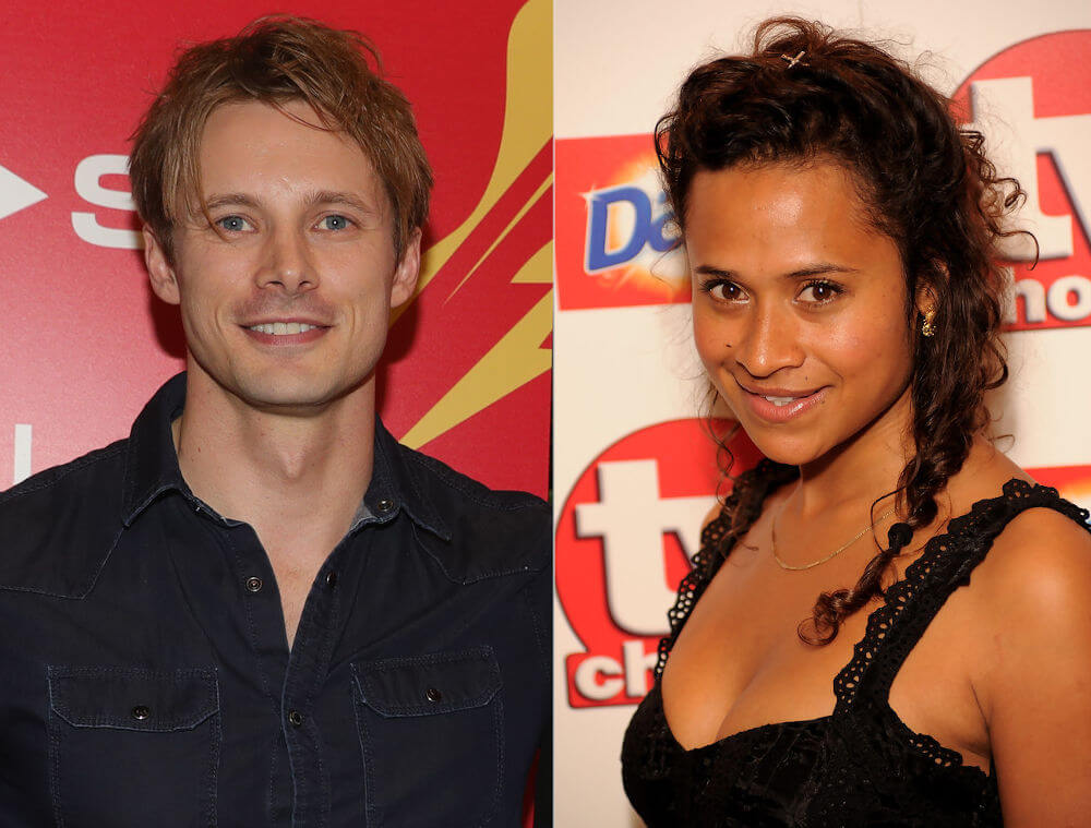 Bradley James and his girlfriend Angel Coulby