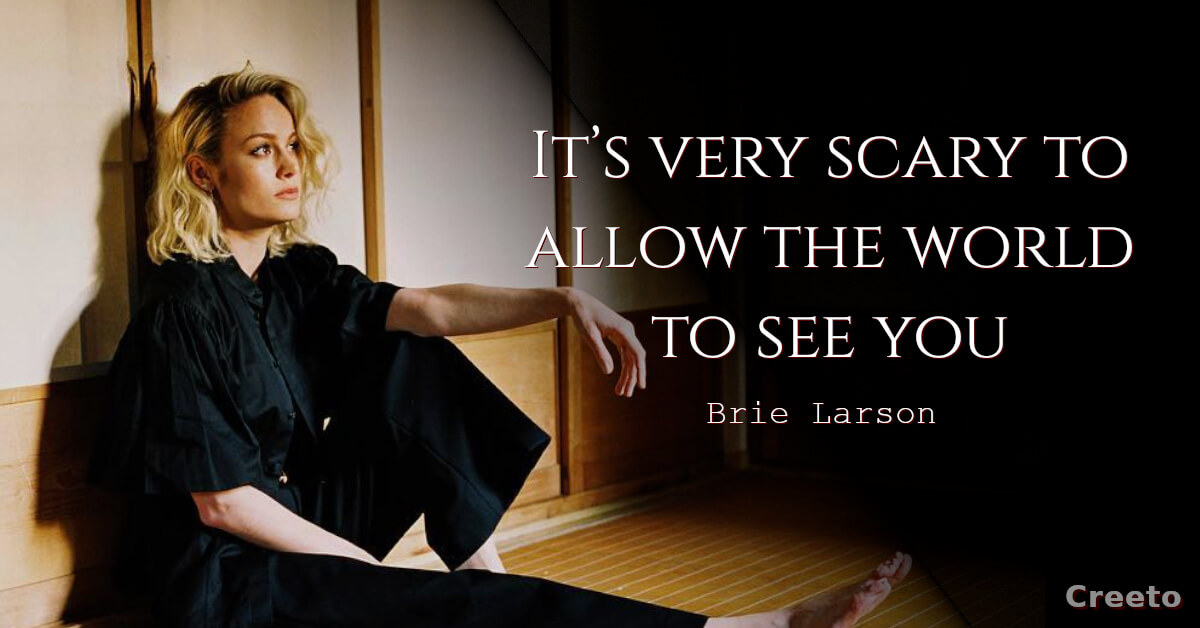 Brie Larson scary quotes