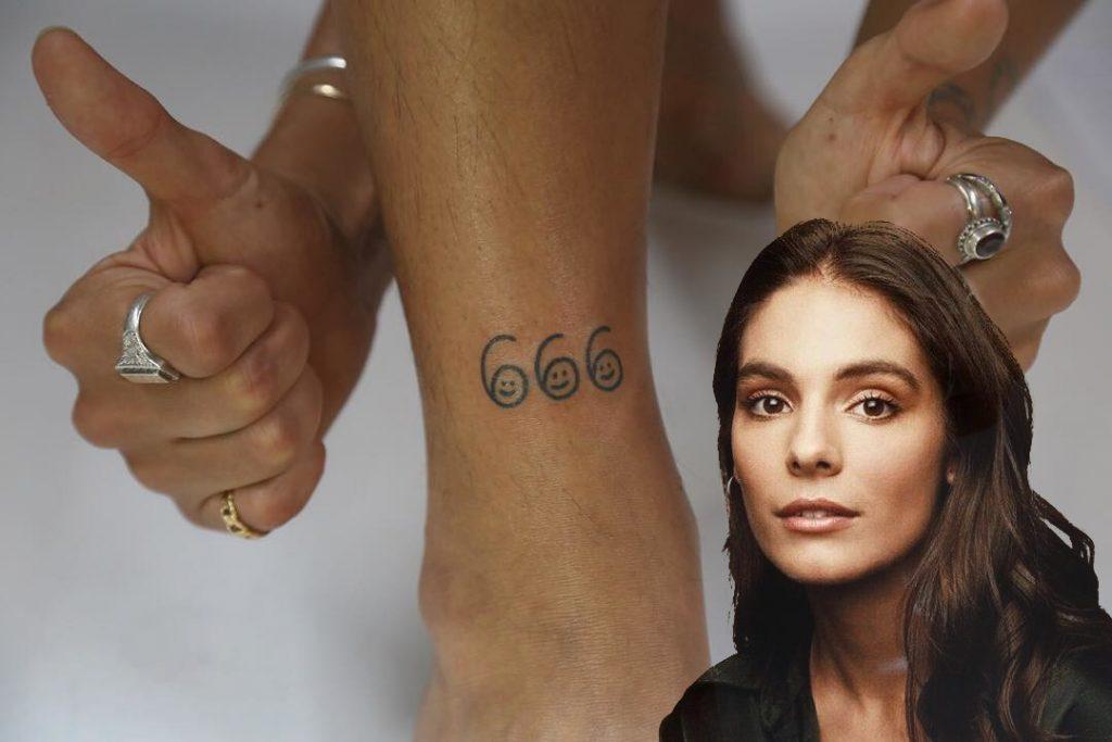 Caitlin Stasey 666 Tattoo