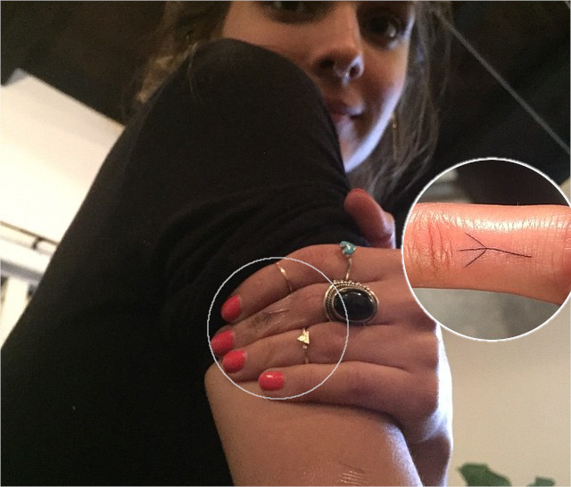 Caitlin Stasey Bird Foot Tattoo