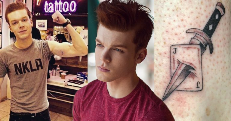 Cameron Monaghan two tattoos