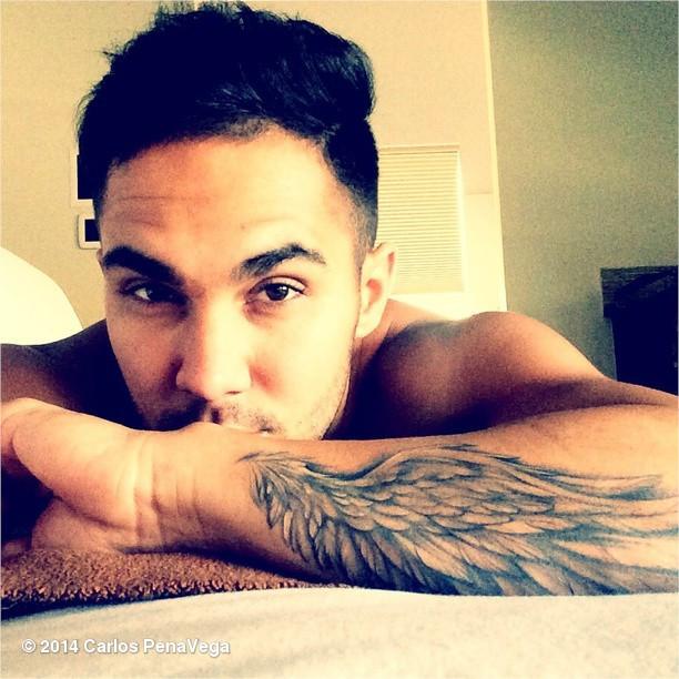 Carlos Pena Angel Wings Tattoo