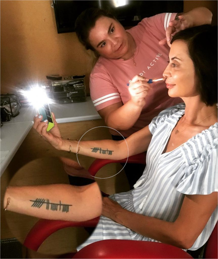 Catherine Bell Ogham Tattoo