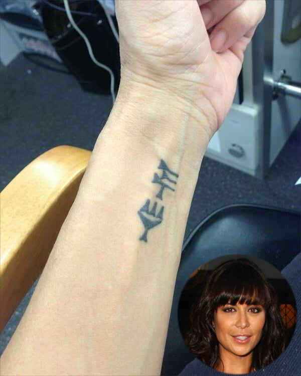 Catherine Bell Wrist Tattoo