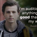 Chandler Riggs quote I'm auditioning for anything that's good that comes my way