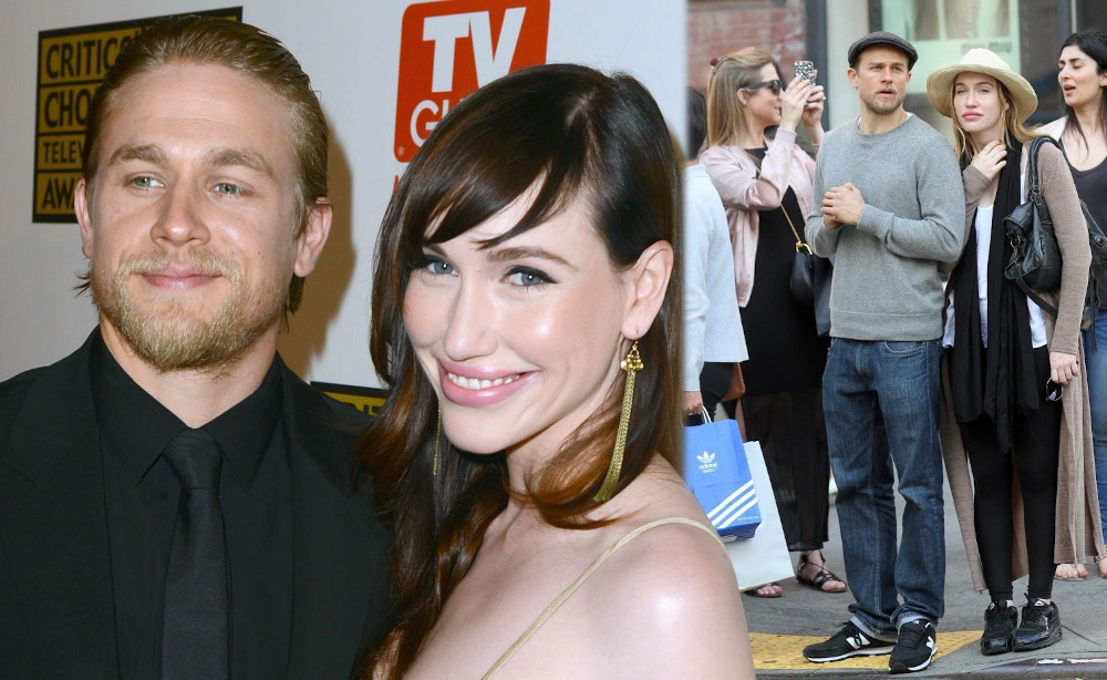 Charlie Hunnam with his girlfriend Morgana McNelis