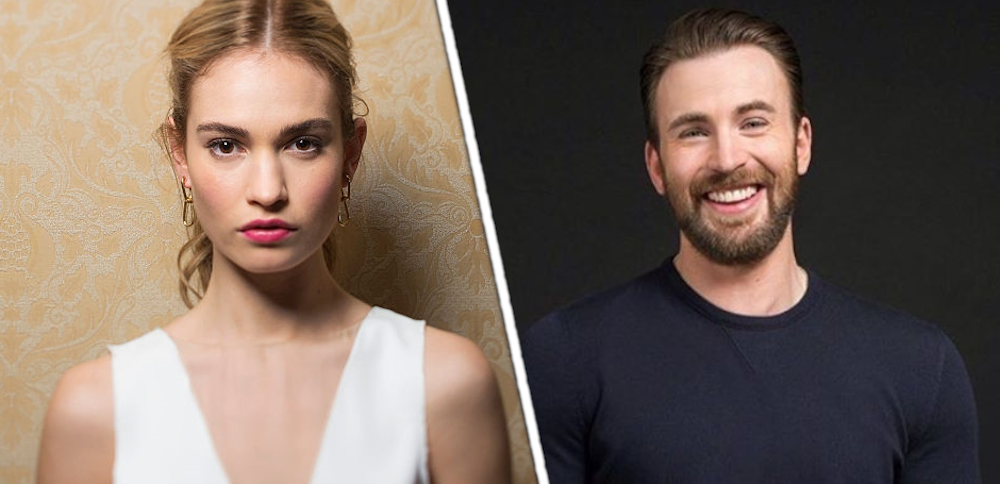 Chris Evans relationship with Lily James