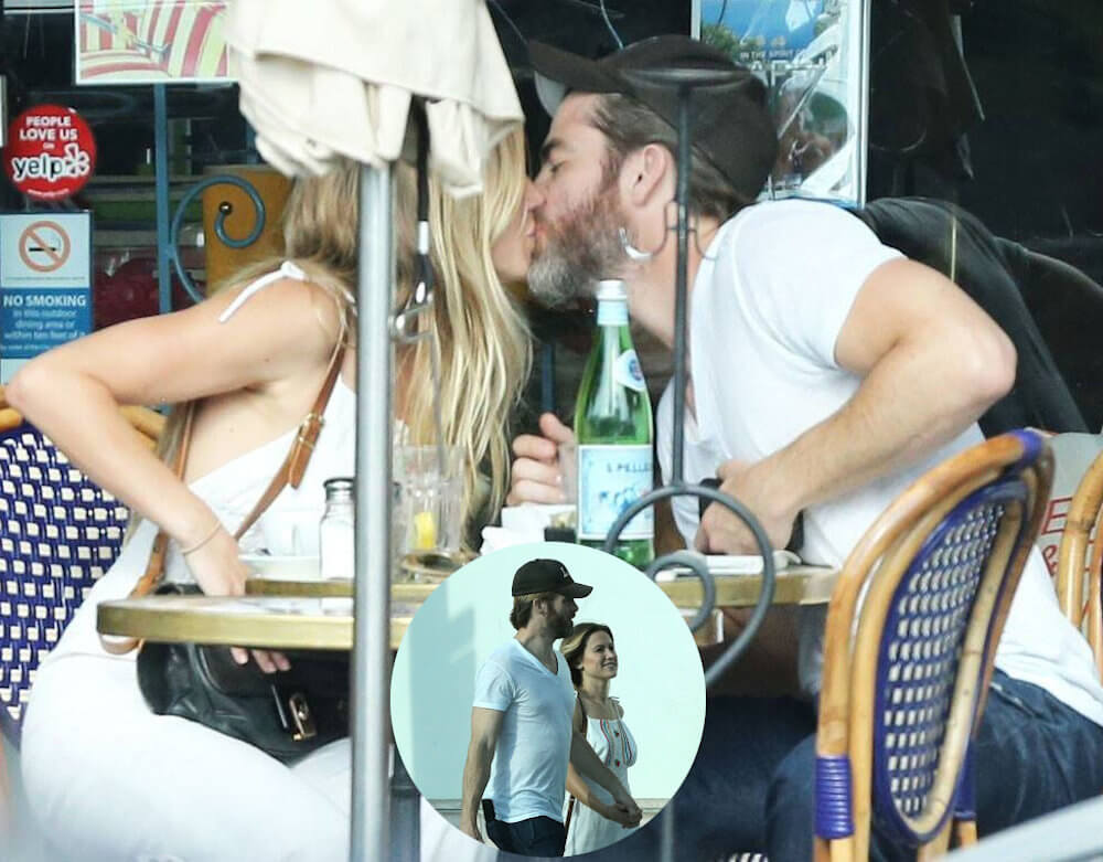 Chris Pine and Vail Bloom kissing