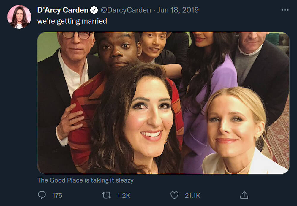 D'Arcy Carden twitter