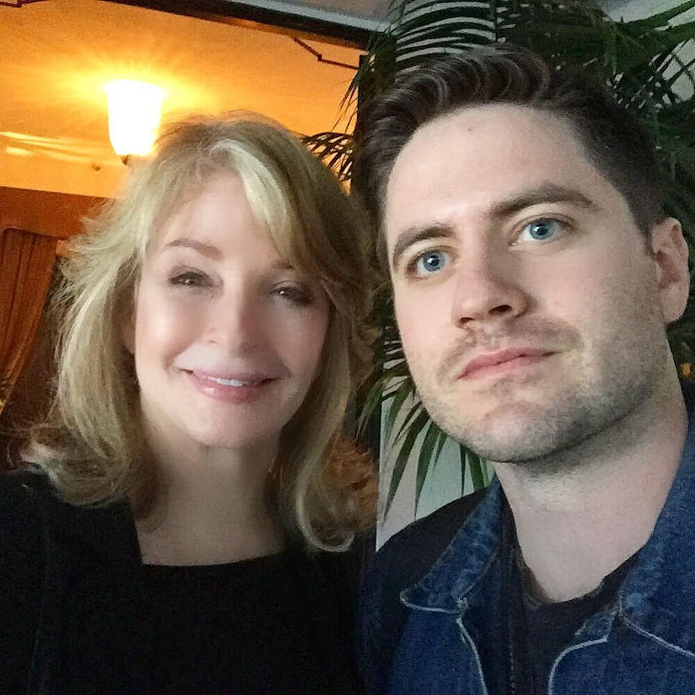 Deidre Hall with her son David