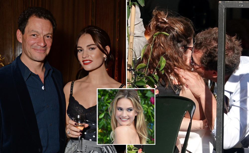 Lily James with ex boyfriend Dominic West