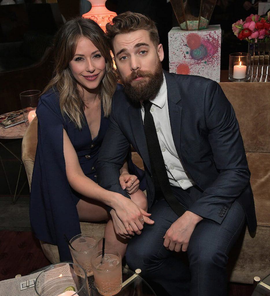 Dustin Milligan and current girlfriend Amanda Crew