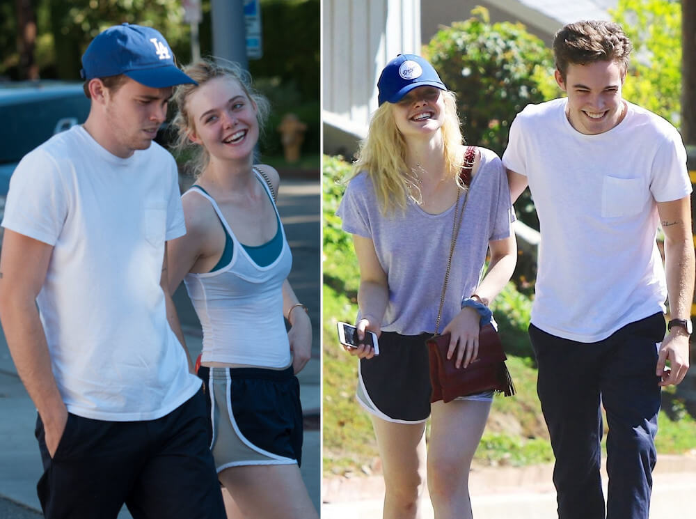 Elle Fanning and ex boyfriend Zalman Band
