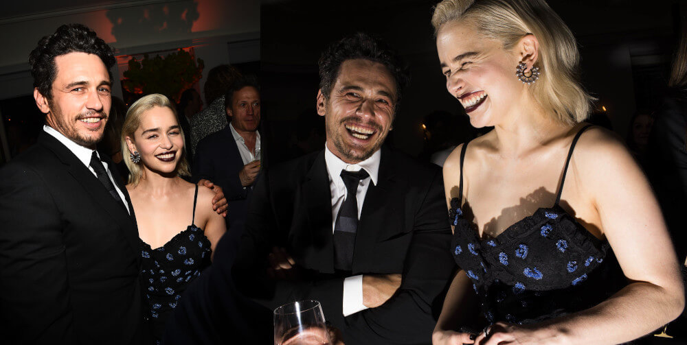 Emilia Clarke and James Franco