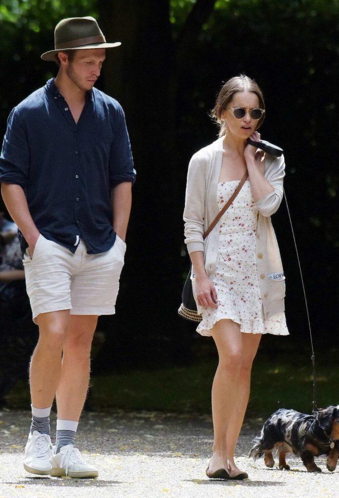 Emilia Clarke and boyfriend Tom Turner