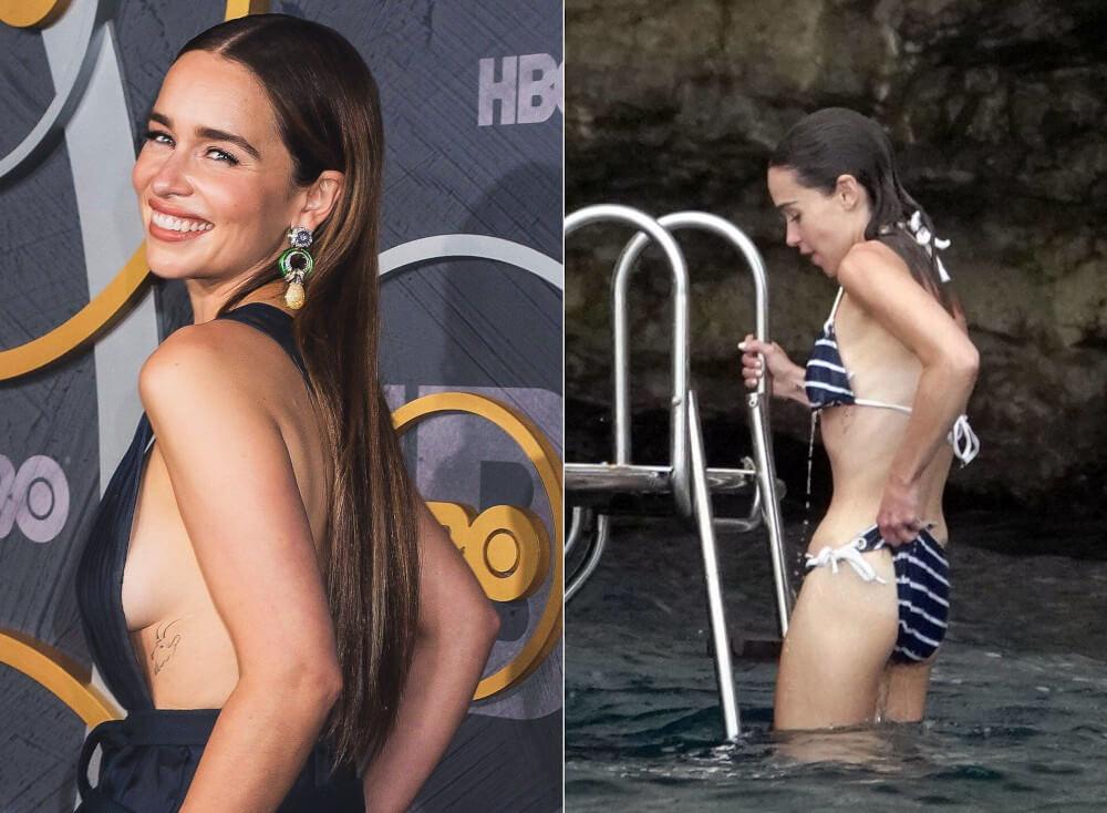 Emilia Clarke goat tattoo ribs