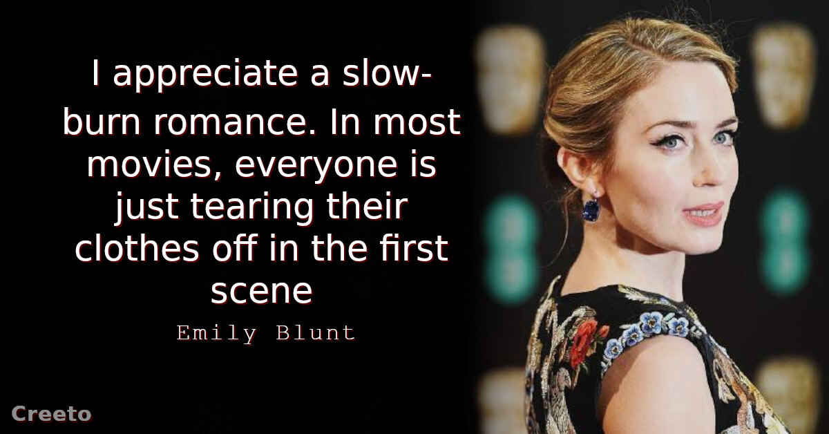 Top 10 Emily Blunt Quotes & Sayings