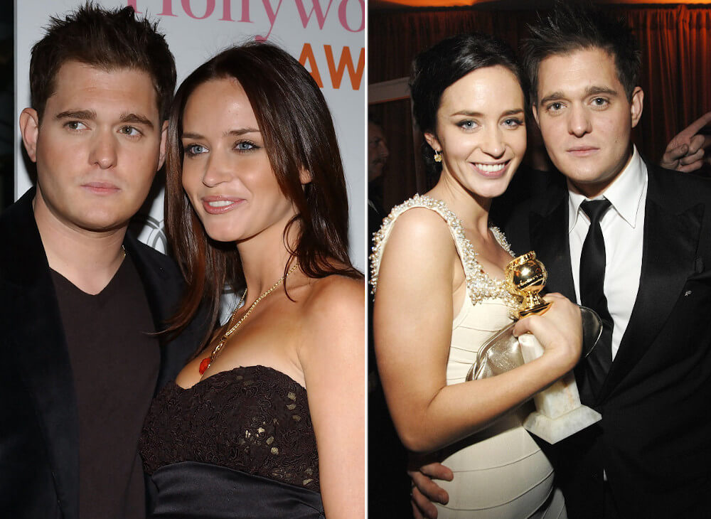 Emily Blunt and ex boyfriend Michael Buble