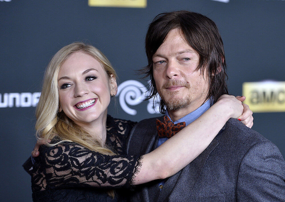 Emily Kinney with Norman Reedus