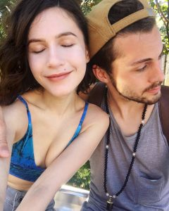 Erin Sanders and her boyfriend Adam
