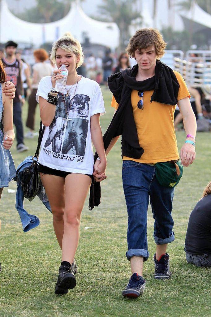 Evan Peters and ex Pixie Geldof
