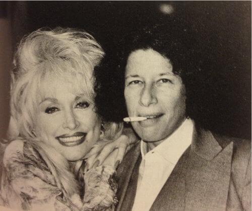 Fran Lebowitz and partner Dolly Parton