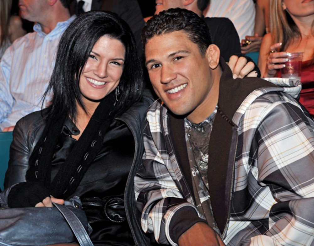 Gina Carano and Tyson Griffin