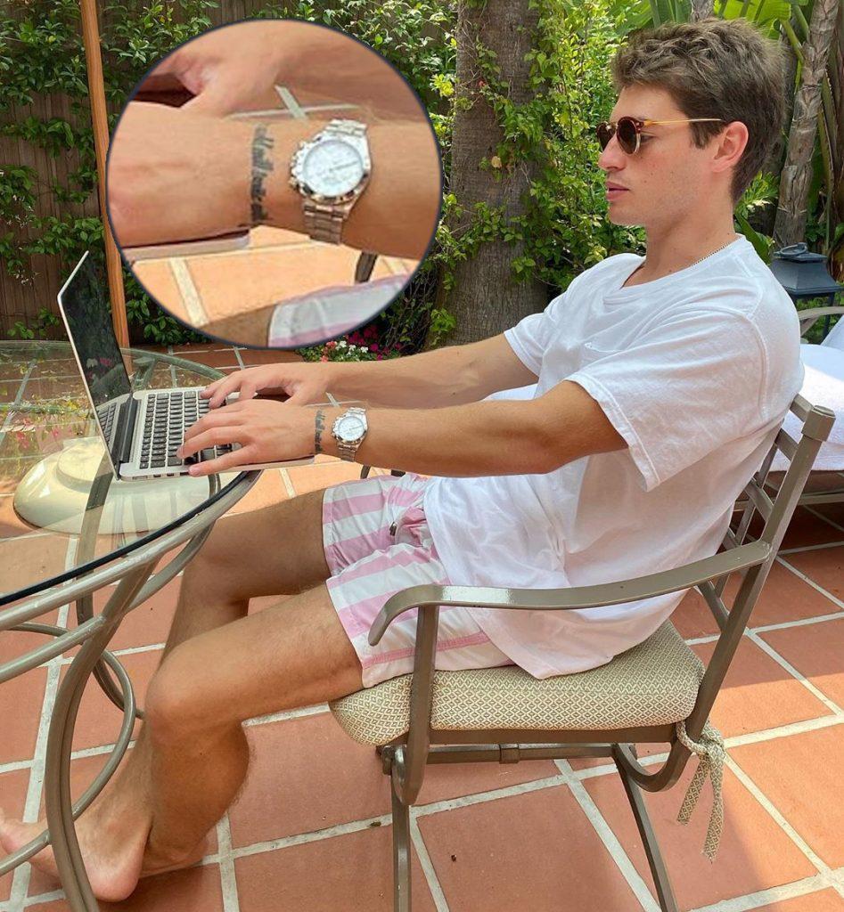 Gregg Sulkin wrist tattoo