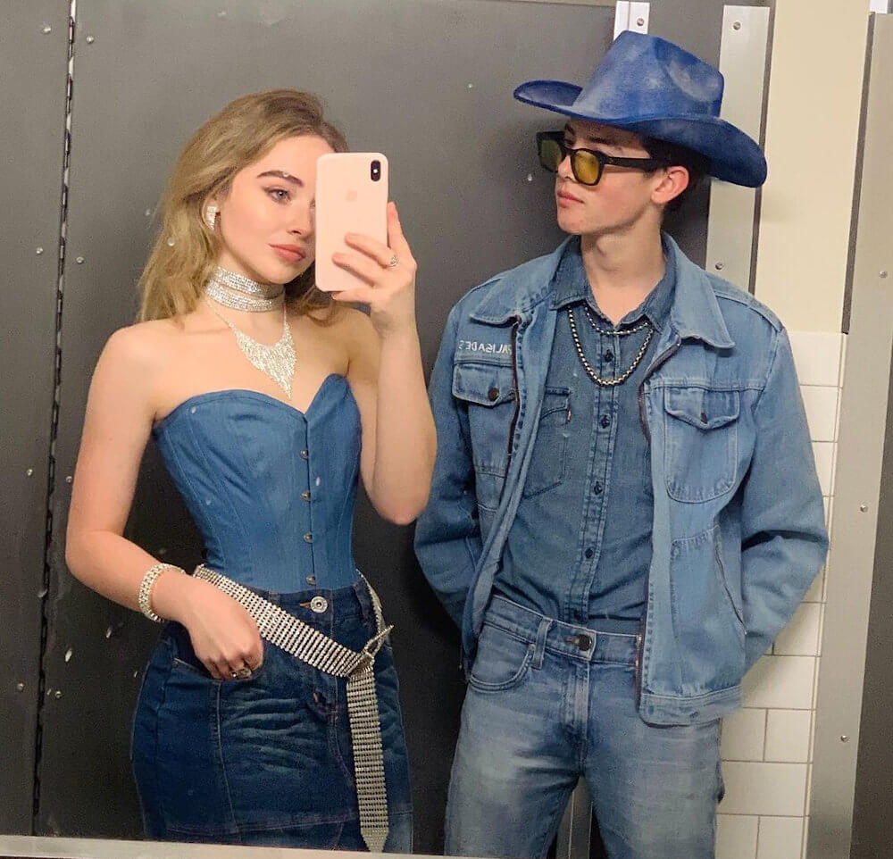 Griffin Gluck and Sabrina Carpenter as Britney Spears and Justin