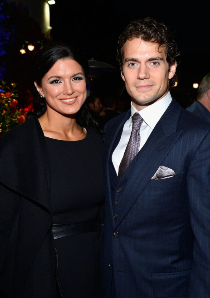 Henry Cavill and ex girlfriend Gina Carano