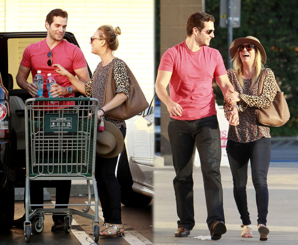 Henry Cavill and his girlfriend Kaley Cuoco