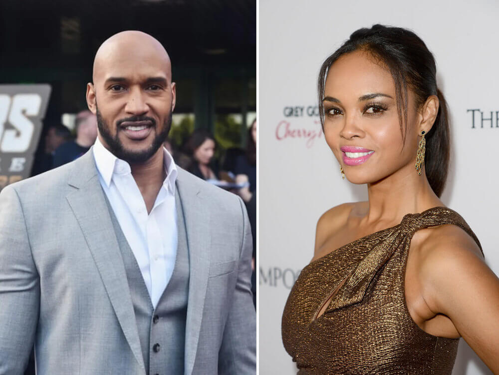 Henry Simmons and ex girlfriend Sharon Leal