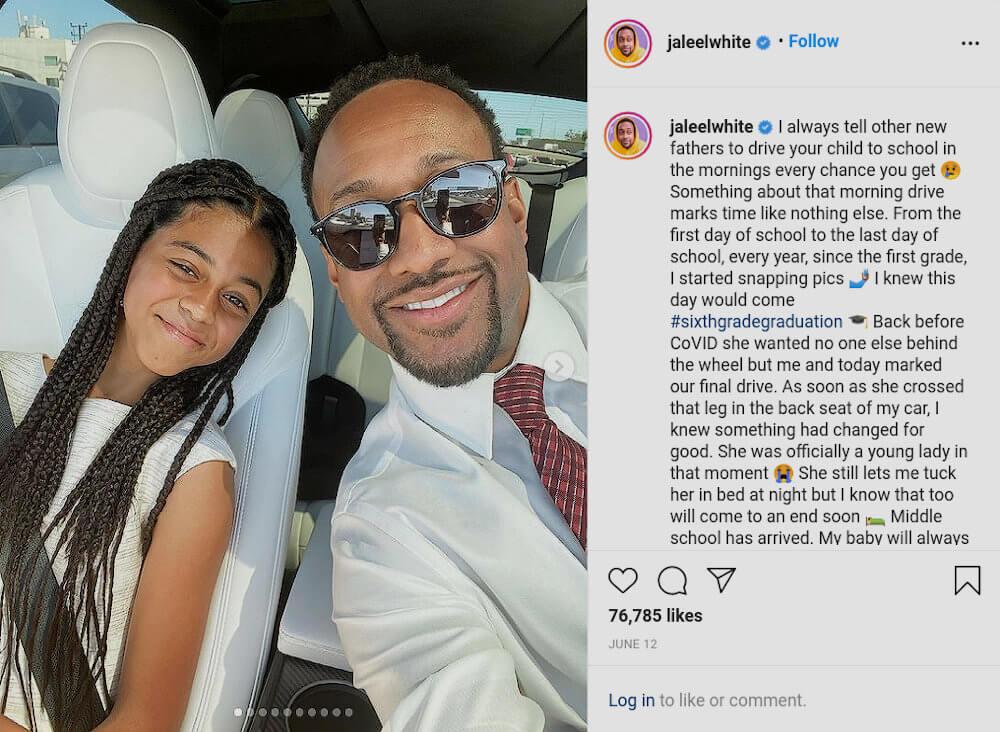 Jaleel White with his daughter, Samaya White