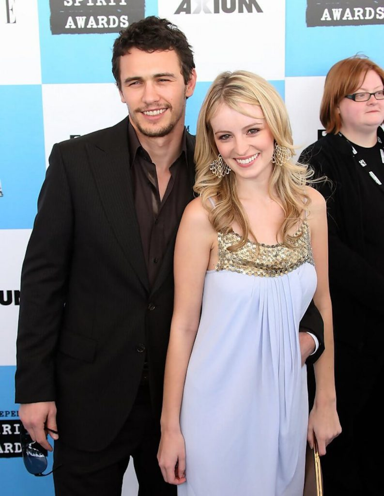 James Franco and ex girlfriend Ahna O'Reilly