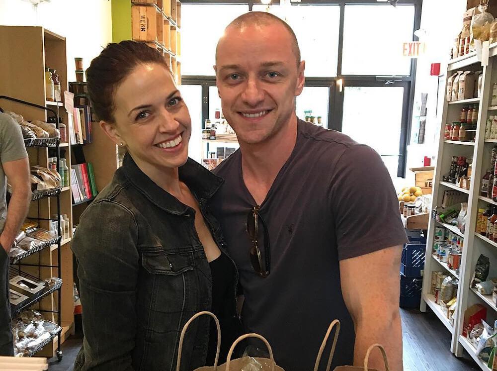 James McAvoy and Lisa Liberati