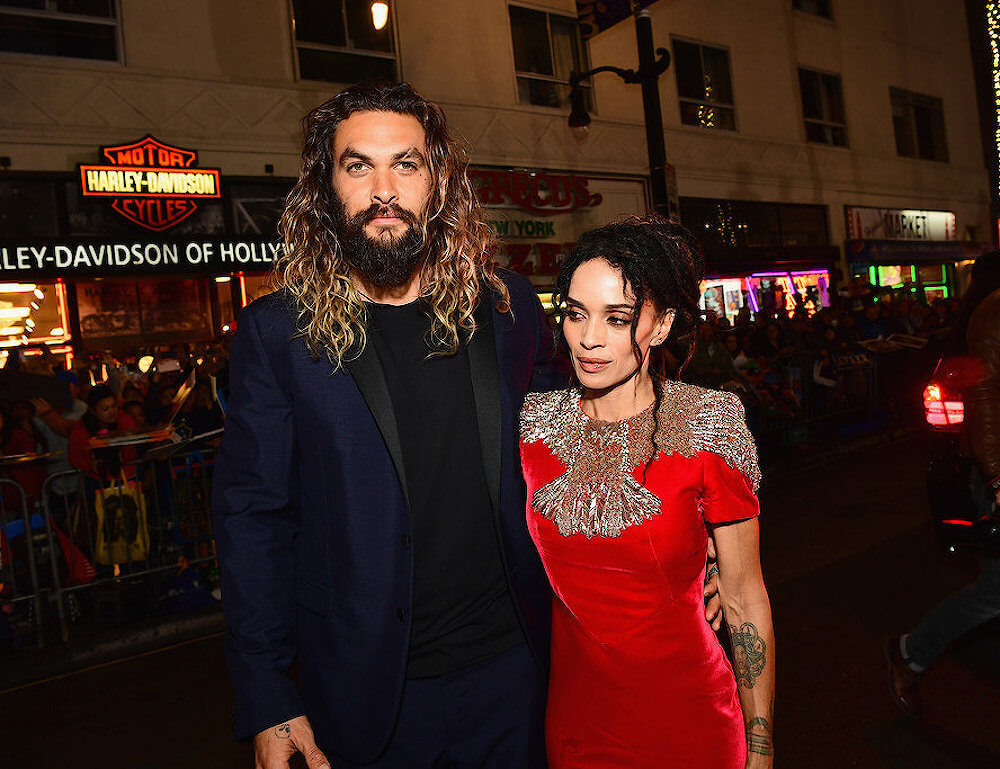 Jason Momoa with his wife Lisa Bonet