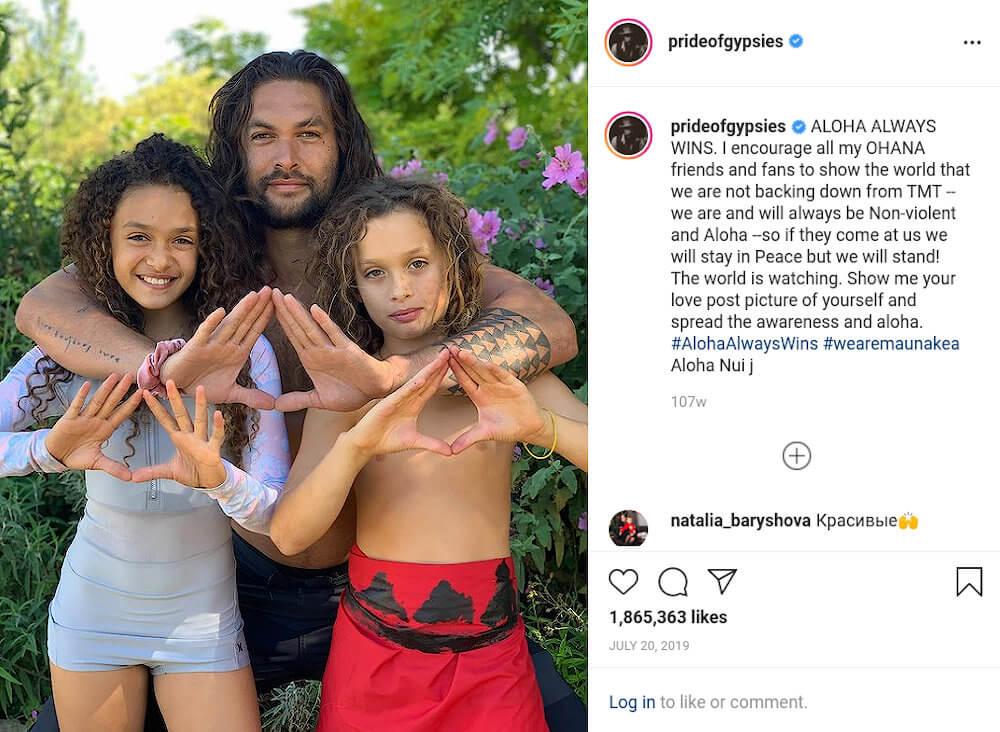 Jason Momoa children Instagram