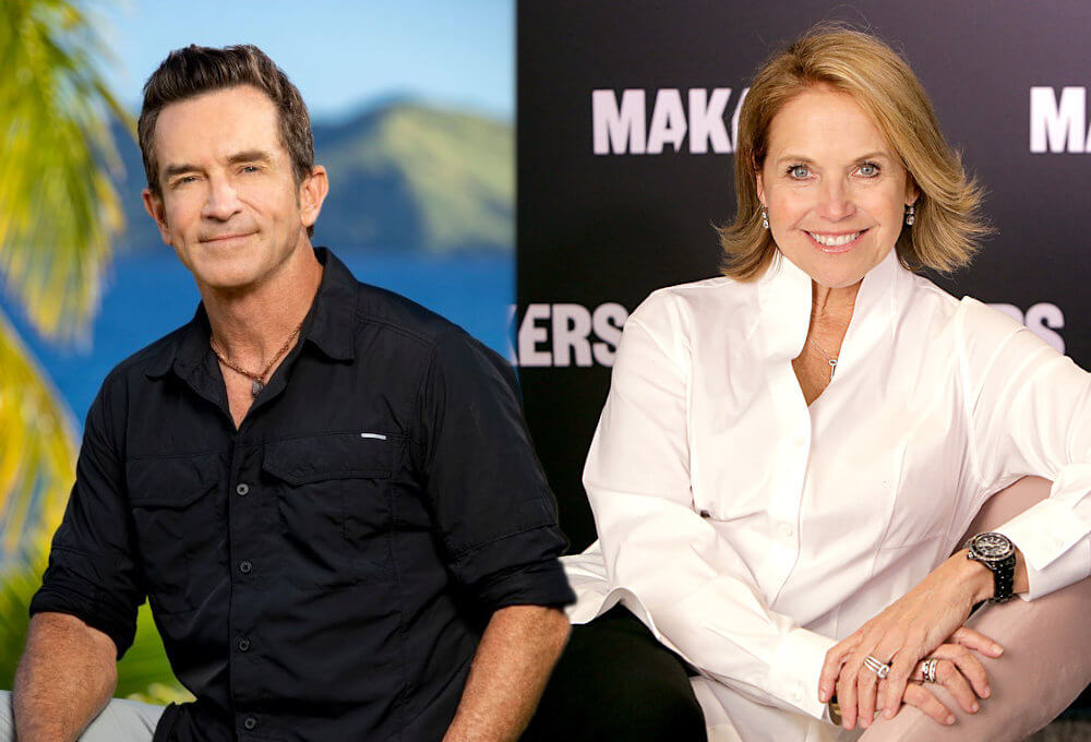 Jeff Probst and Katie Couric