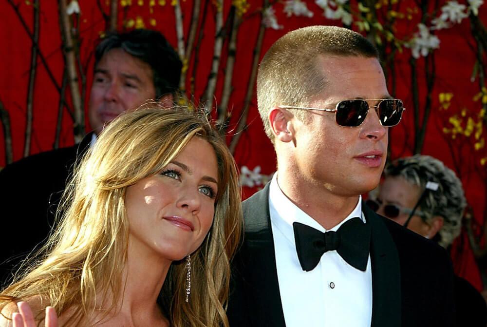 Jennifer Aniston and husband Brad Pitt