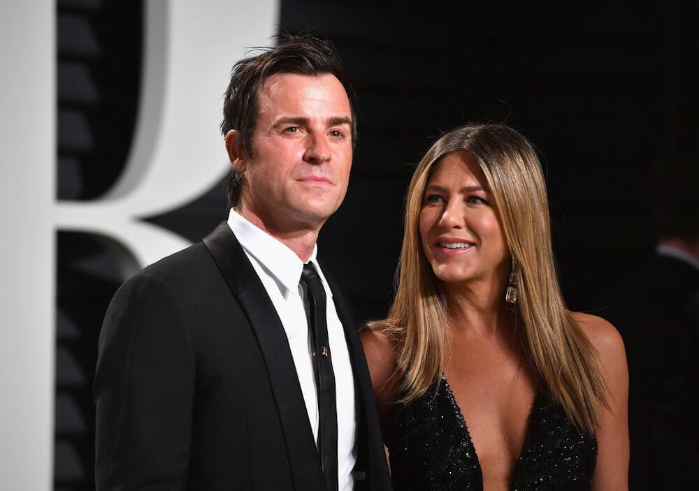 Jennifer Aniston and ex husband Justin Theroux