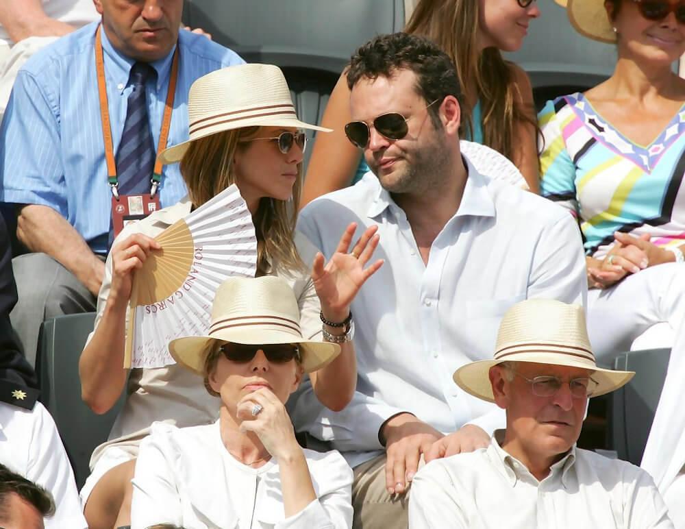 Jennifer Aniston and ex boyfriend Vince Vaughn