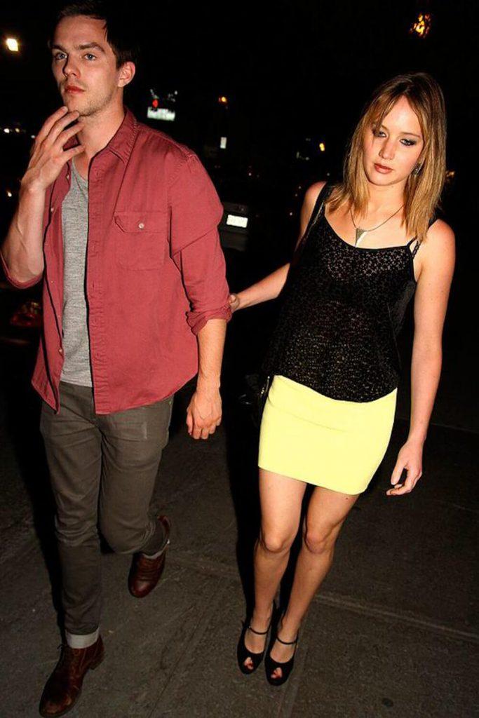 Jennifer Lawrence and boyfriend Nicholas Hoult